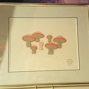 Disney Fantasia Dancing Mushroom Serigraph Limited